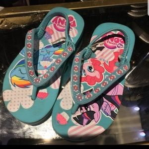 My little pony girls flip-flop size 9/10